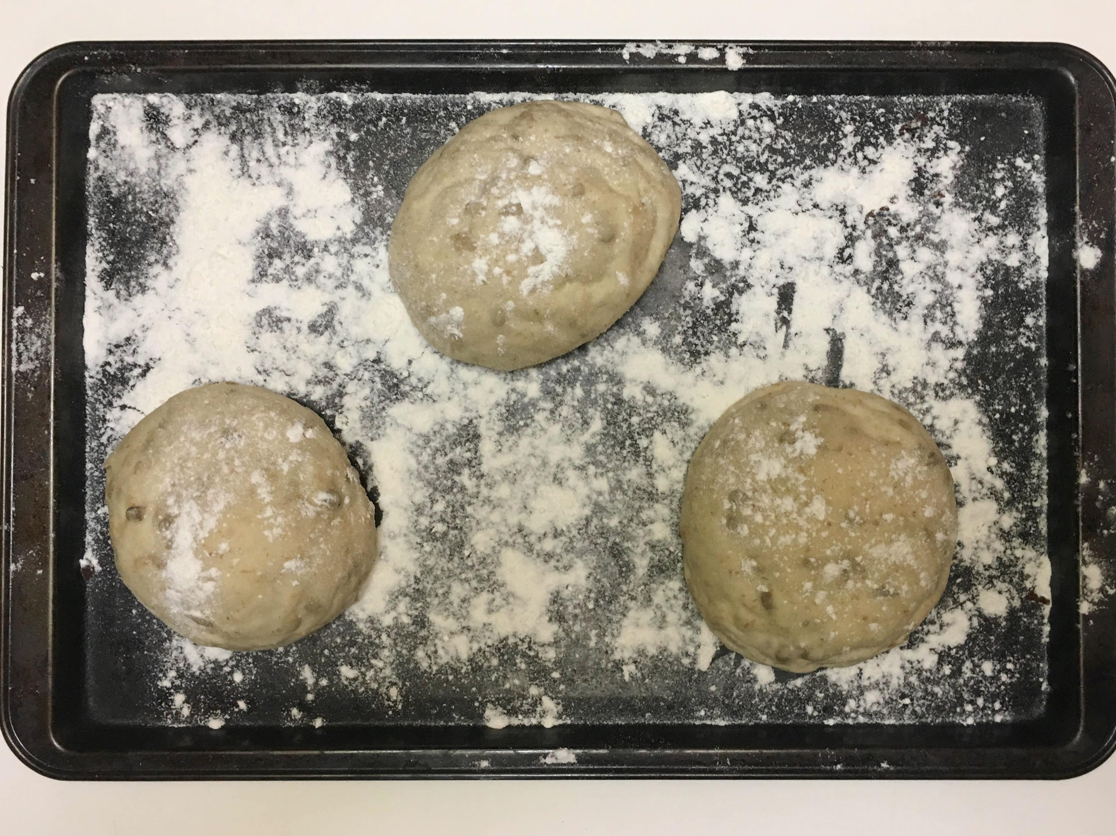 Pão de hambúguer caseiro